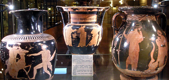 Greek vases in Agrigento's Museo Archeologico