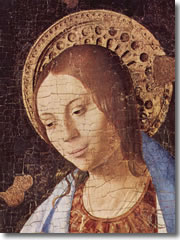 A detail from Antonello da Messina's Annunciation.