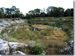 The Anfiteatro Romano at Siracusa's Archeological Park of Neapolis