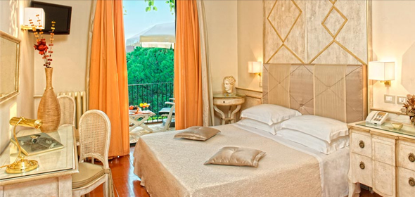 A room at the Hotel Villa Belvedere, Taormina