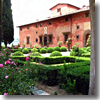 The gardens at agriturismo Villa Vignamaggio in the Chianti region of Tuscany.