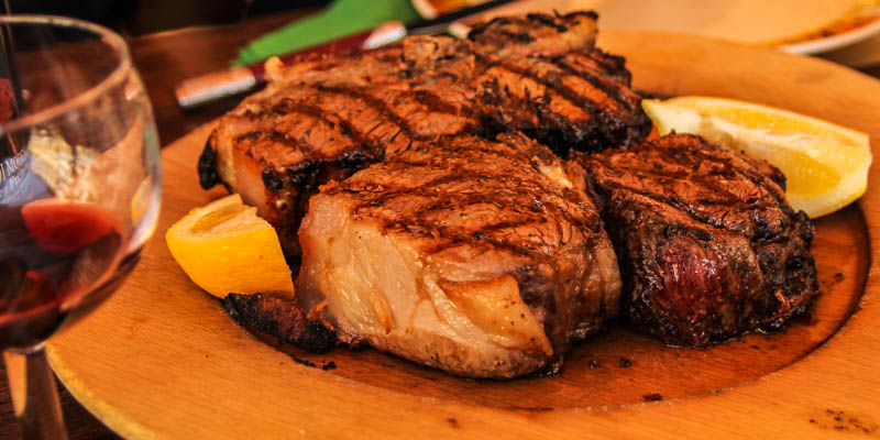 A bistecca fiorentina (Florentine steak) in Florence, Italy. (Photo by Agata & Andrew Mleczko)