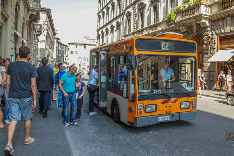 Florence bus. (Photo by Hubert Gajewski)