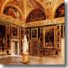 The Galleria Palatina painting museum in the Palazzo Pitti of Florence