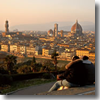 The view over Florence from Piazzale Michelangelo