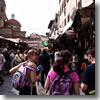 The San Lorenzo leather market in Florence