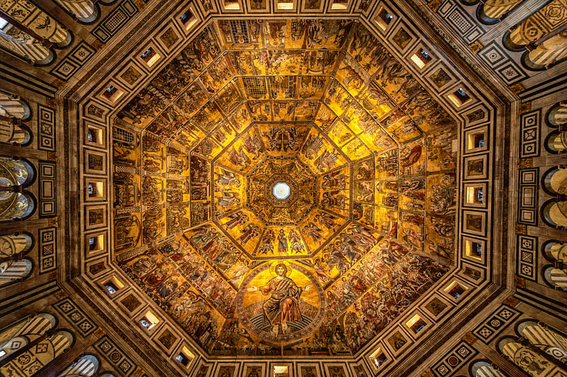 The mosaics on the ceiling of the Florence Baptistry. (Photo by Shane Lin)