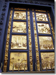 Ghiberti's Gates of Paradise on the Florence Baptistry