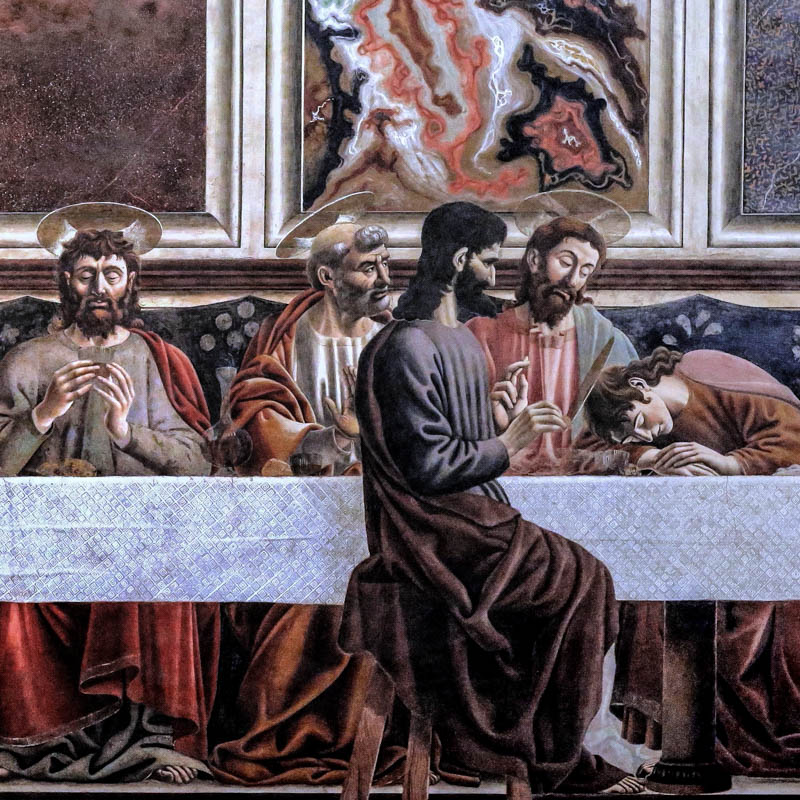 The Cenacolo di Sant'Apollonia (Last Supper) by Andrea del Castagno. (Photo by Jean Louis Mazieres)