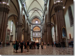 The nave of Florence's Duomo