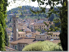 The town and catehdral tower of Fiesole above Florence