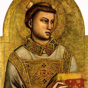 Giotto's St. Stephen (1320–25) in the Museo Horne, Florence
