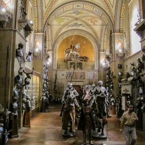 A cavalcade of armor in the Museo Stibbert, Florence. (Photo by Sailko)