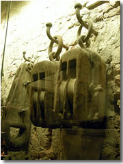 Pulleys designed by Brunelleschi for the construction o the dome on the cathedral, at the Museo dell'Opera del Duomo, Florence