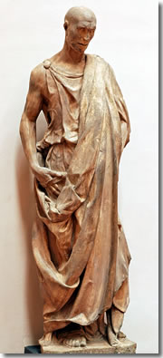 "Lo Zuccone (""Pumpkinhead""), actually a statue of Habbakuk by Donatello in Florence's Museo dell'Opera del Duomo"