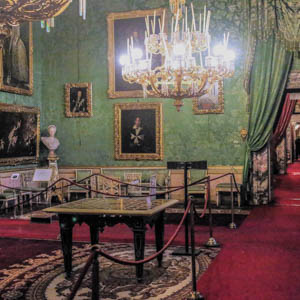 The Green Room in the Appartamenti Reali of the Pitti Palace, Florence