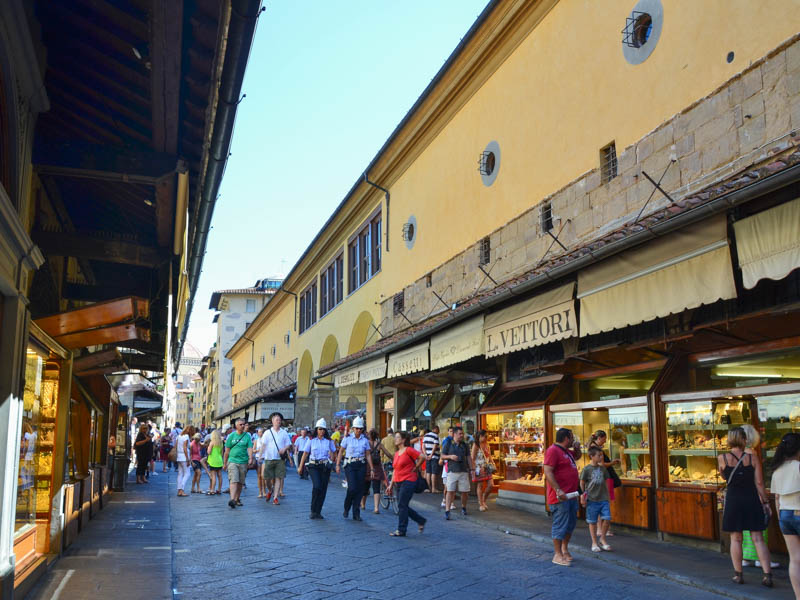 Jewelry shops have lined Florence's Ponte Vecchio since the 16th century (before that, it was butchers). (Photo by Richard Mortel)