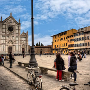 Piazza Santa Croce, Florence. (Photo by Giuseppe Moscato)