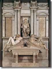 Michelangelo's tomb of Giuliano, Duke of Nemours with Day and Night