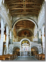 The interior of San Miniato al Monte in Florence