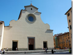 The church of Santo Spirito in Florence