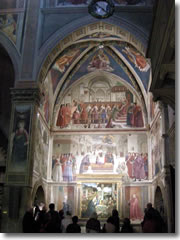 The Cappella Sassetti in Santa Trinita church in Florence