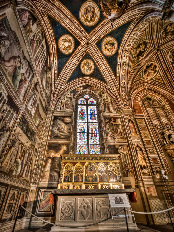 The Baroncelli Chapel in the Baslica di Santa Croce, Florence. (Photo by Augusto Mia Battaglia)