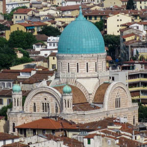 The Sinagoga (Synagogue) and Jewish Museum of Florence. (Photo by Deror Avi)