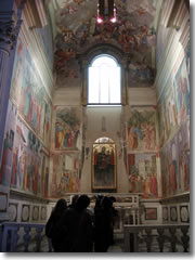 The Brancacci Chapel in Florence's church of Santa Maria della Carmine