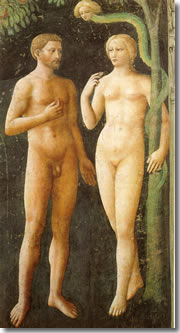 Masolino's Temptation of Adam and Eve in the Brancacci Chapel of Florence's Santa Maria del Carmine church