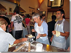 A pasta-making cooking class in Florence.