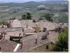The rooftops and countryside of Montepulciano