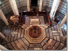 The baptistery interior