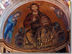 The mosaic by Cimabue in the Pisa cathedral