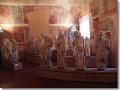 Medieval statues in the Museo del Duomo of Pisa.