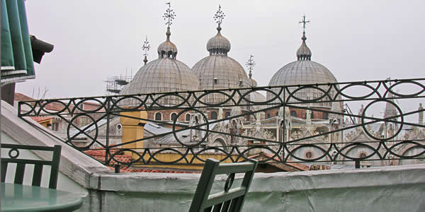 View from the terrace of Room 11 at Hotel Ai Do Mori, Venezia