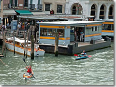 Kayakers on the Grand Canal in Venice