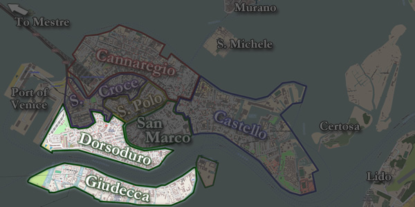 The Dorsoduro neighborhood of Venice
