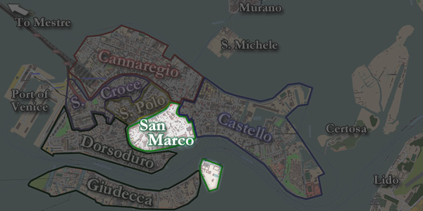 The San Marco neighborhood of Venice