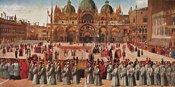 The Procession of the True Cross by Gentile Bellini (1496)