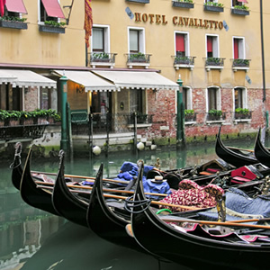 The bacino Orseolo, a gondola parking lot behind St. Mark's Square in Venice