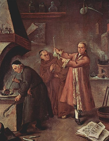The Alchemist (1757) by Pietro Longhi in the Museo del '700 Veneziano in the Ca' Rezzonico, Venice