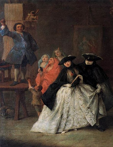 The Montebank (1757) by Pietro Longhi in the Museo del '700 Veneziano in the Ca' Rezzonico, Venice