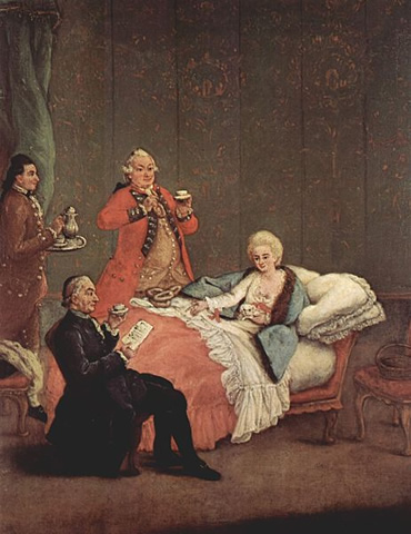 The Morning Chocolate (1775/80) by Pietro Longhi in the Museo del '700 Veneziano in the Ca' Rezzonico, Venice