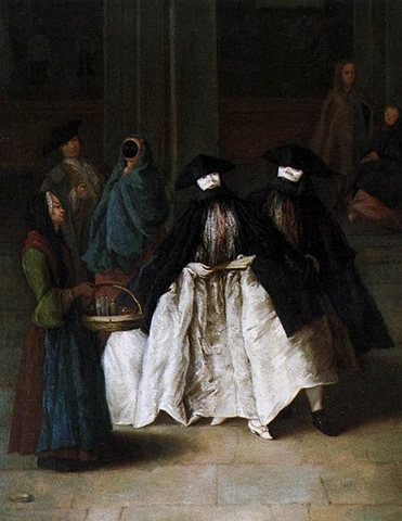 The Perfume Seller (1757) by Pietro Longhi in the Museo del '700 Veneziano in the Ca' Rezzonico, Venice