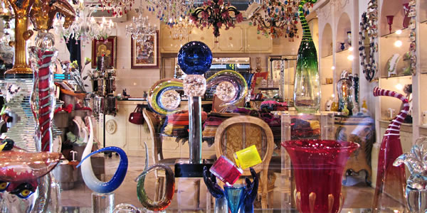 A glass shop in Venice