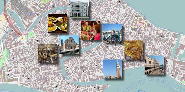 A map of what you'll see on Day 1 of this three-day Venice itinerary