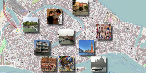 A map of what you can see on Day 2 of this three-day Venice itinerary