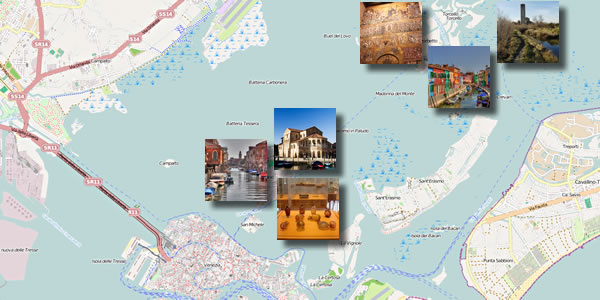A map of what you'll see on the outlying islands on Day 3 of this three-day Venice itinerary