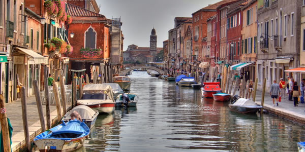 A canal on the Venetian island of Murano